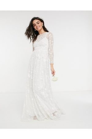 ASOS Ava all over embellished and embroidered wedding dress