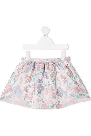 HUCKLEBONES LONDON Minifalda con motivo floral en jacquard