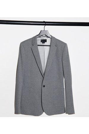 ASOS Tall belted super skinny jersey blazer in grey