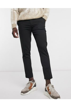 ASOS Skinny cropped smart trousers in black