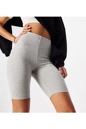 ASOS ASOS DESIGN Tall cotton legging short in grey marl