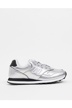 New Balance 393 trainers in metallic silver