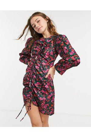 Urban Bliss Drawstring dress in pink floral