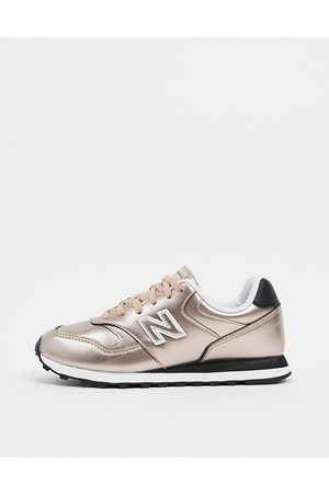 New Balance 393 trainers in rose gold