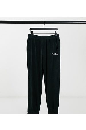 PUMA Cord joggers in black exclusive to ASOS