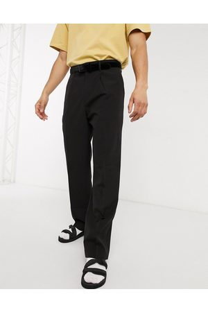 Weekday Conrad Wide Trousers in Black