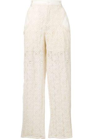 Serafini Mujer Pantalones y Leggings - Pantalones con paneles de encaje