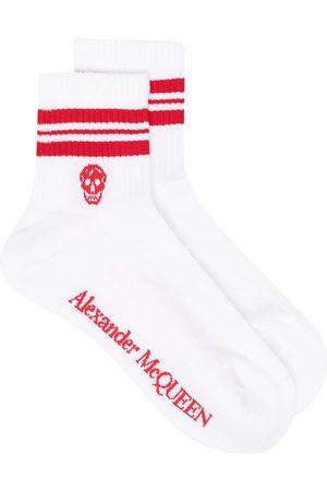 Alexander McQueen Calcetines con ribete de rayas