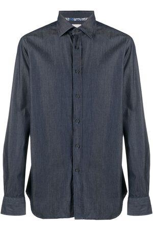 Xacus Hombre De mezclilla - Camisa de mezclilla con botones