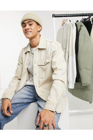 Weekday Benton denim shirt in beige