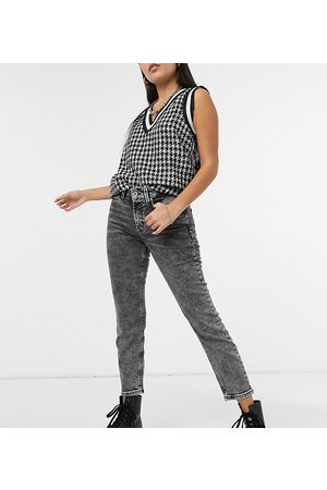 Only Erica slim straight leg jeans in black