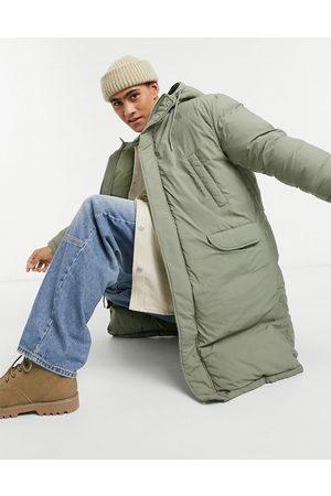 ASOS Puffer parka jacket in green