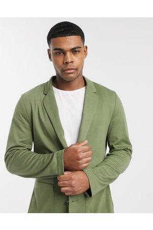 ASOS Skinny soft tailoredjersey blazer in khaki