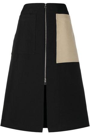 Colville Mujer Midi - Falda midi con diseño colour block
