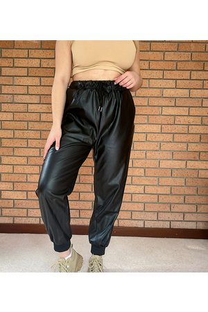 In The Style X Olivia Bowen pu jogger in black