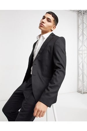Bolongaro Plain super skinny suit jacket in black