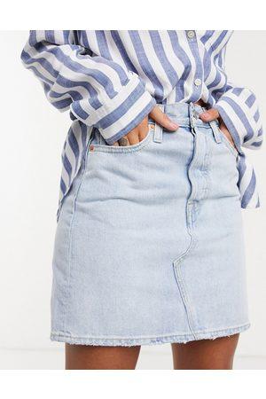 Levis Levi's deconstructed denim skirt in lightwash blue