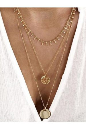 YOINS Gold Coins Decor Muti-layer Necklace