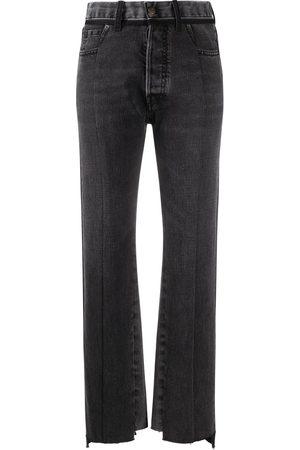 Maison Margiela Mujer Rectos - Jeans con paneles en contraste