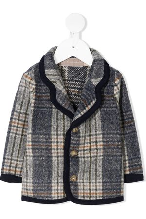 LA STUPENDERIA Knitted plaid coat