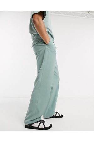 Weekday Conrad Wide Trousers in Green