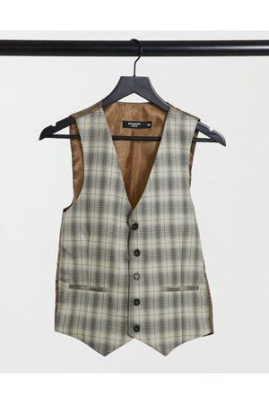 Bolongaro Super skinny check suit waistcoat
