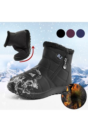 YOINS Warm Fur Lining Waterproof Antiskid Boots