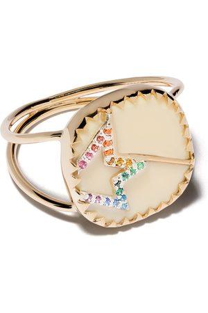 Pascale Monvoisin Anillo Varda Nº 2 en oro amarillo de 9kt con diamantes