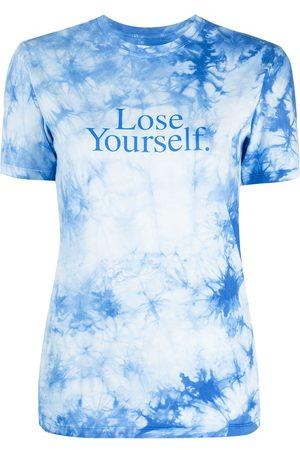 Paco rabanne Camiseta con estampado tie-dye y eslogan
