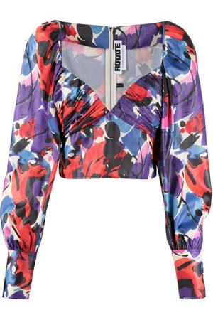 ROTATE Blusa con estampado abstracto