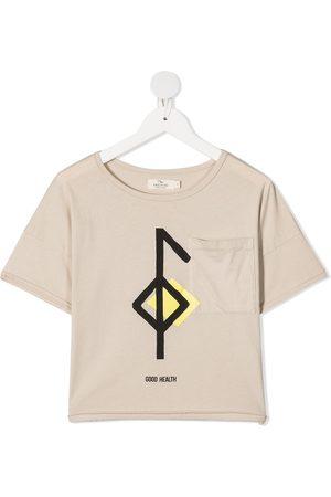 Le pandorine Graphic-print organic cotton T-shirt