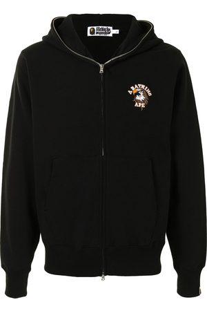A BATHING APE® Eagle motif zip-up hoodie