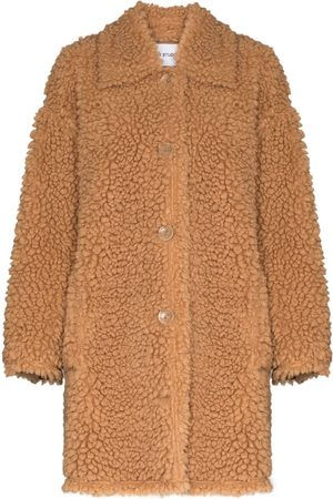 Stand Studio Jacey button-up teddy coat