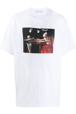OFF-WHITE CARAVAGGIO S/S OVER TEE WHITE RED