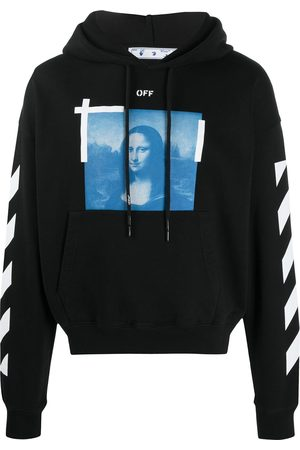 OFF-WHITE BLUE MONALISA OVER HOODIE BLACK WHITE