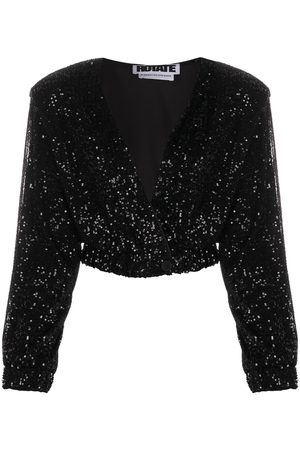ROTATE Sequinned cropped jacket