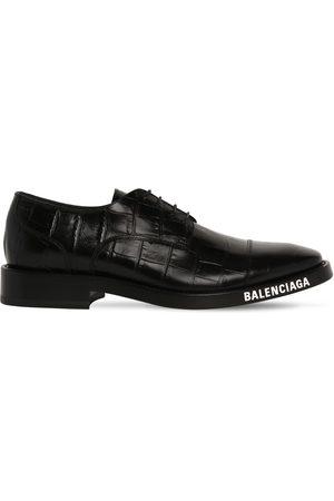 Balenciaga Zapatos Derby De Piel Grabada Cocodrlo
