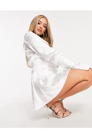 Love & Other Things Flared shirt dress in white