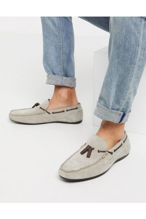 ASOS Driving shoes in grey suede with lace detail