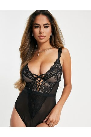 Figleaves Fuller Bust Savannah lace up mono