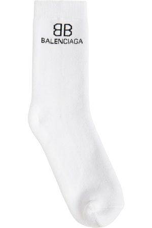 Balenciaga Calcetines De Algodón Con Logo