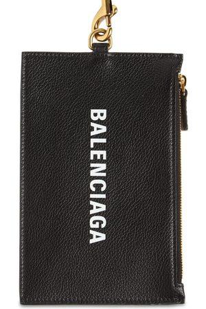 Balenciaga Cartera Para Monedas Y Pasaporte De Piel Con Logo