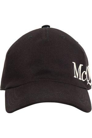 Alexander McQueen Gorra De Algodón Con Logo Bordado