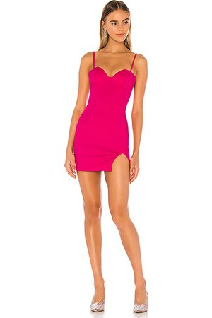 superdown Minivestido corpiño oliviah en color rosado talla L en - Pink. Talla L (también en XXS, XS, S, M, XL).