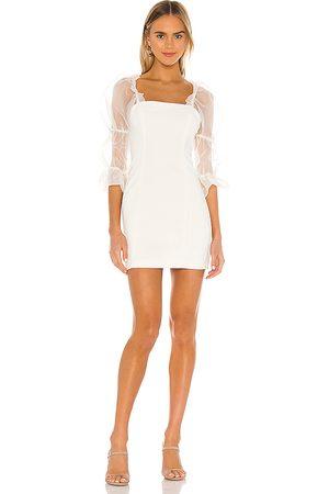 Amanda Uprichard Mujer Cortos - Minivestido tia en color blanco talla L en - White. Talla L (también en XS, S).