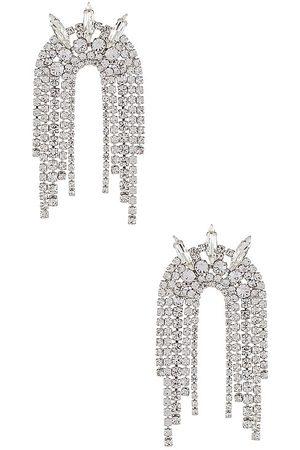 Electric Picks Jewelry Pendientes araña high society en color metálico talla all en - Metallic Silver. Talla