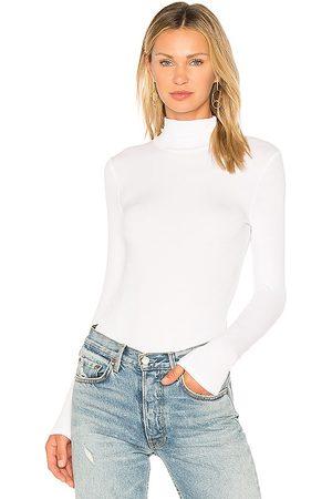 N:philanthropy Mujer Body - Bodysuit cuello vuelto brooke en color talla L en - White. Talla L (también en M, S, XS).