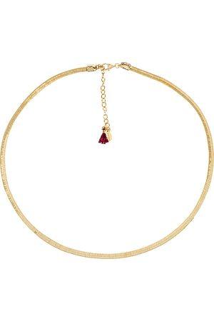 Shashi Collar silk en color oro metálico talla all en - Metallic Gold. Talla all.