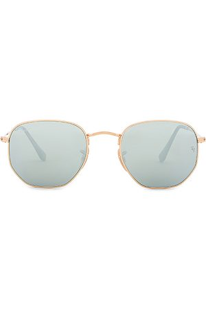 Ray-Ban Gafas de sol hexagonal flat lens en color plateado metálico talla all en - Metallic Silver. Talla all.