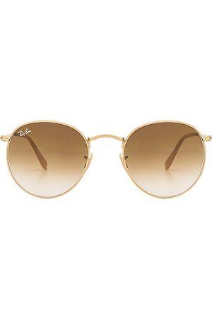 Ray-Ban Gafas de sol redondas de metal en color oro metálico talla all en - Metallic Gold. Talla all.
